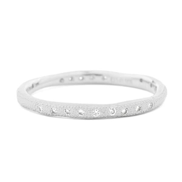 White Gold Stardust Seed Band