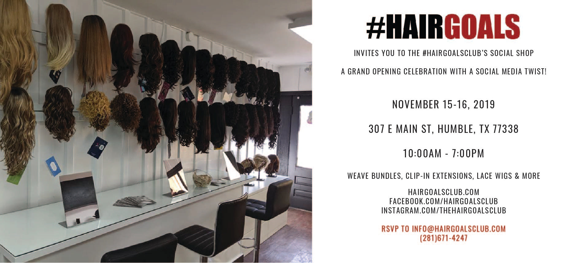 Hairgoals Club to host first 'social shop' in Humble Texas