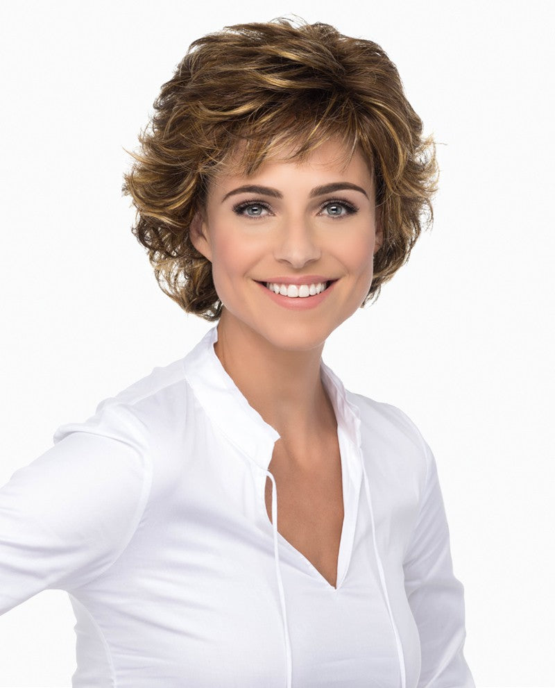 Diana Wig | Short Layered Cut with Wispy Loose Curls