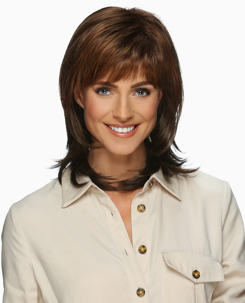 Evette Wig | Shoulder Length Layered Cut with Bangs