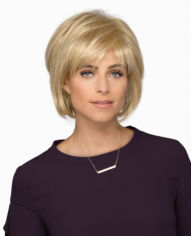 Devin Wig | Short Wispy Layered Bob with Semi-Tapered Nape