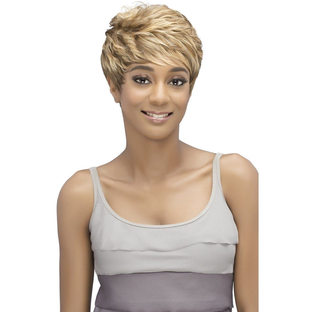 CELONA Synthetic Short Tape Curl With Tapered Back Vivica Fox. - African American Wigs