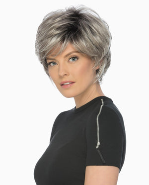 True Wig | Short Feathery Layered Cut with Volume & Wispy Full Bangs