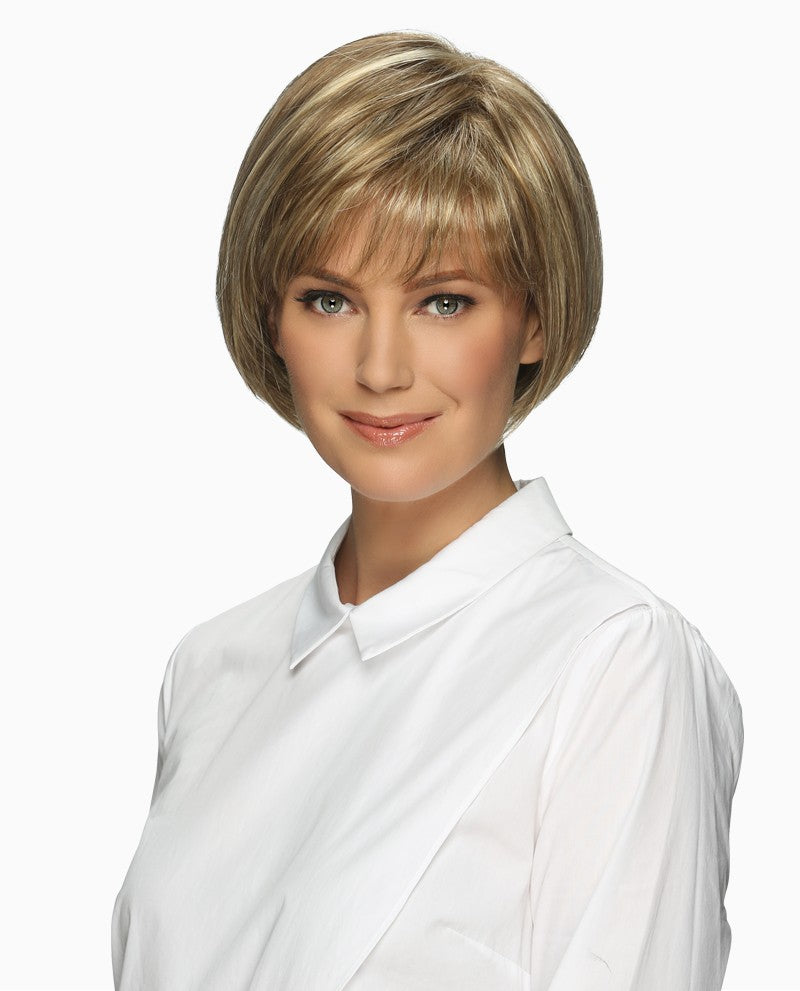 Ellen Wig | Silky Chin Length Page with Full Bangs & Shaped Back