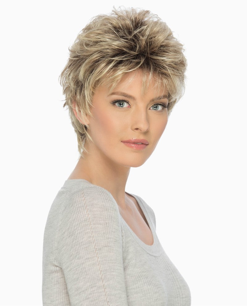 Christa Wig | Short Layered Cut with Curls Throughout & Texturized at the Nape