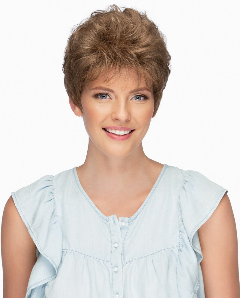 Jordan Wig | Short Pixie Cut with Softly Curled Top & Tapered Nape
