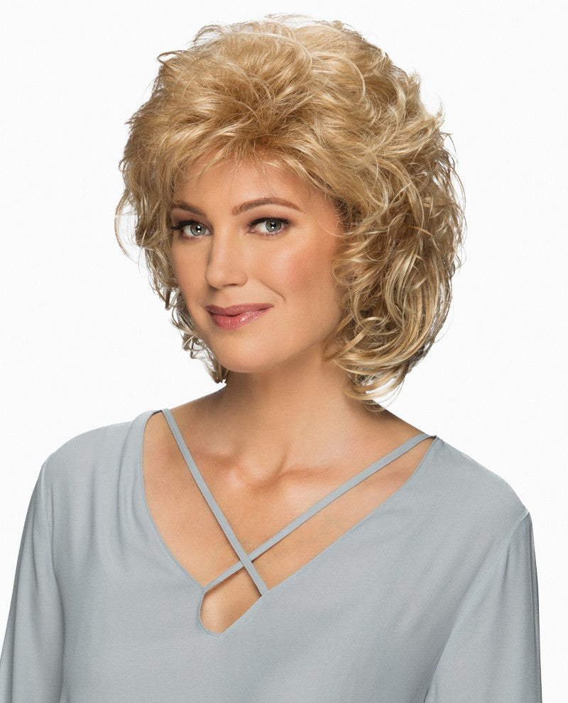 Compliment Wig | Collar Length Full Layered, Wavy Style