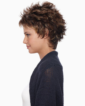 Petite Demi Wig | Short Layered Spiky Cut