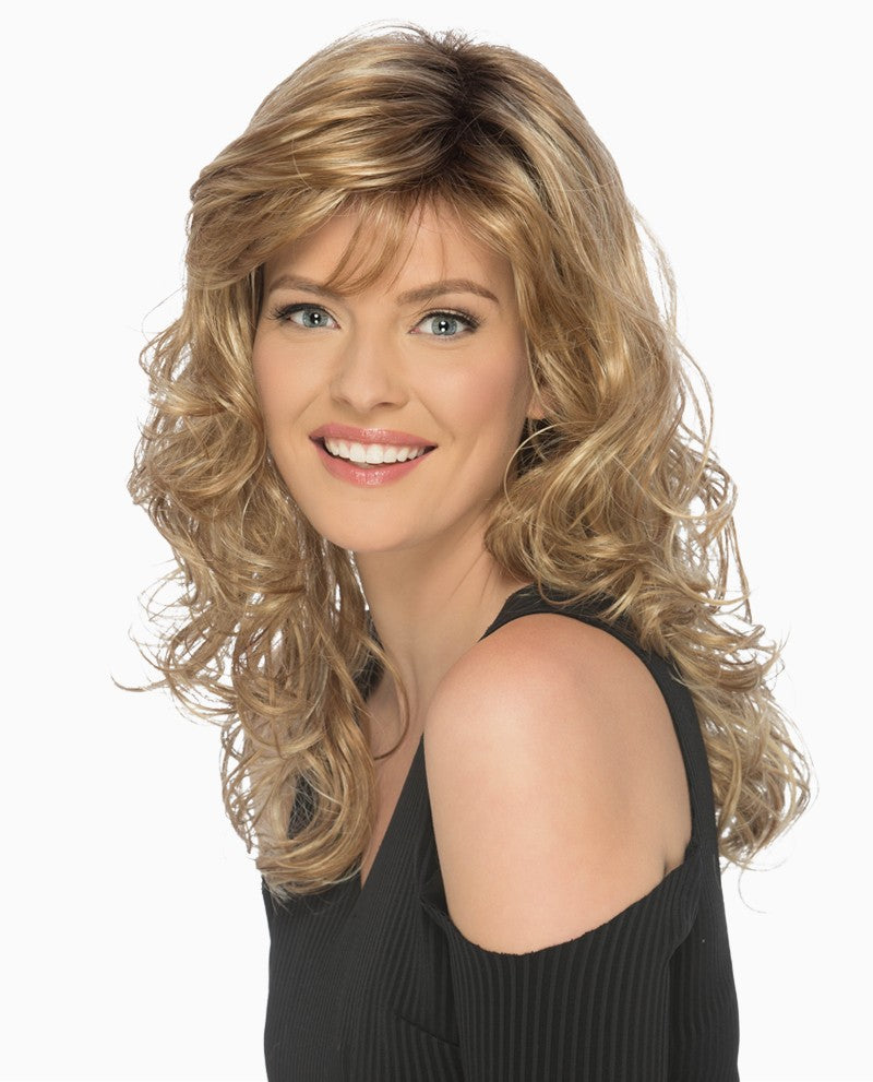 BECKY PURE STRETCH CAP Below the Shoulder Lightweight Style with Soft Tousled Curls