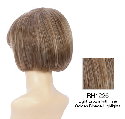 Petite Charm Wig | Silky Chin Length Page with Full Bangs & Shaped Back
