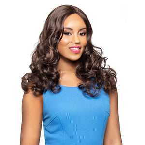Via - Foxy Lady J Part Lace Front Long Synthetic Wig - African American Wigs