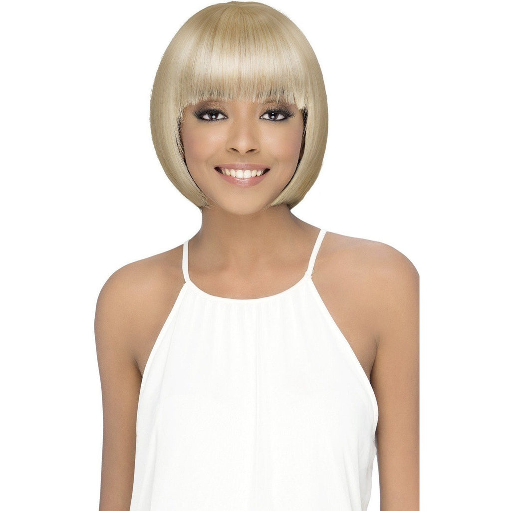 DANISH Layered Synthetic Fringe Ends Bob With Layered Fringe Bang - Vivica Fox - African American Wigs