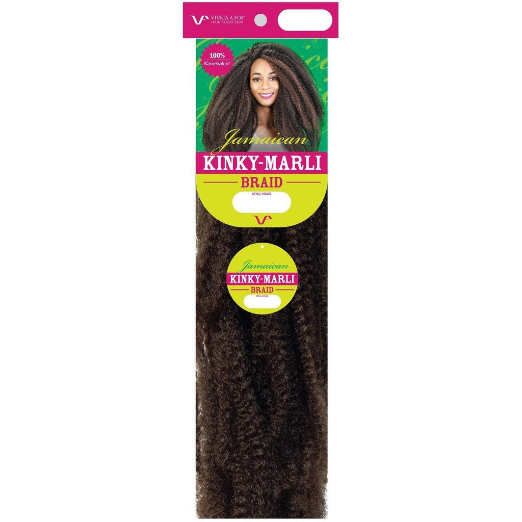 "KINKY JAMAICAN MARLI BRAID | Synthetic 18"" Kinky Curl Extension - African American Wigs"