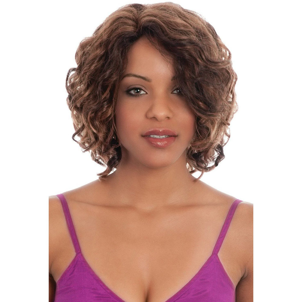 Nadia -V | Synthetic Wig (Mono Top) - African American Wigs