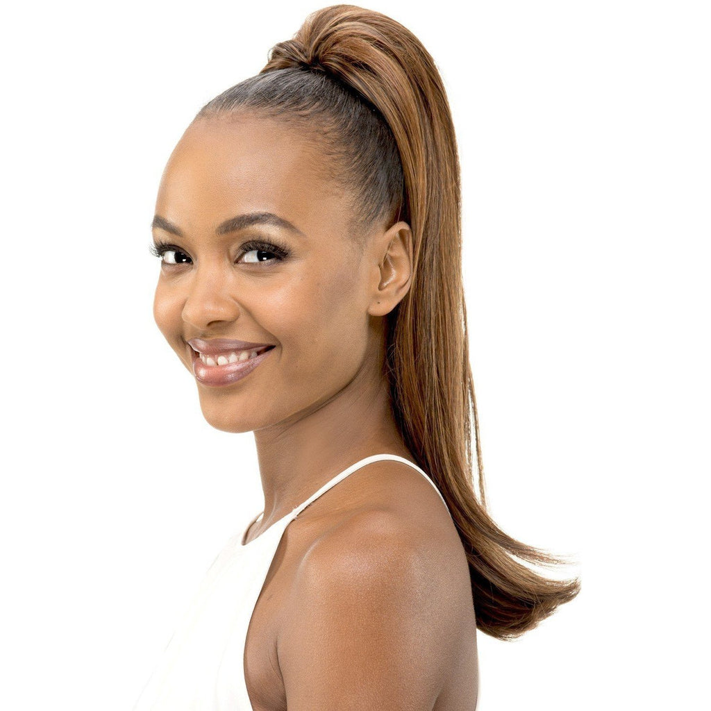 "Pocket Bun 65 | 20"" Heat Resistant Synthetic Extension (Honeycomb Base) - African American Wigs"