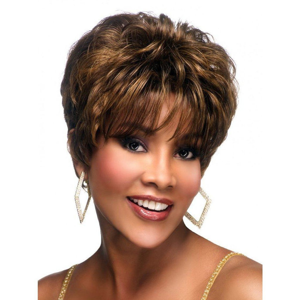 H212 - Vivica Fox Synthetic Wig in Color #1B - African American Wigs