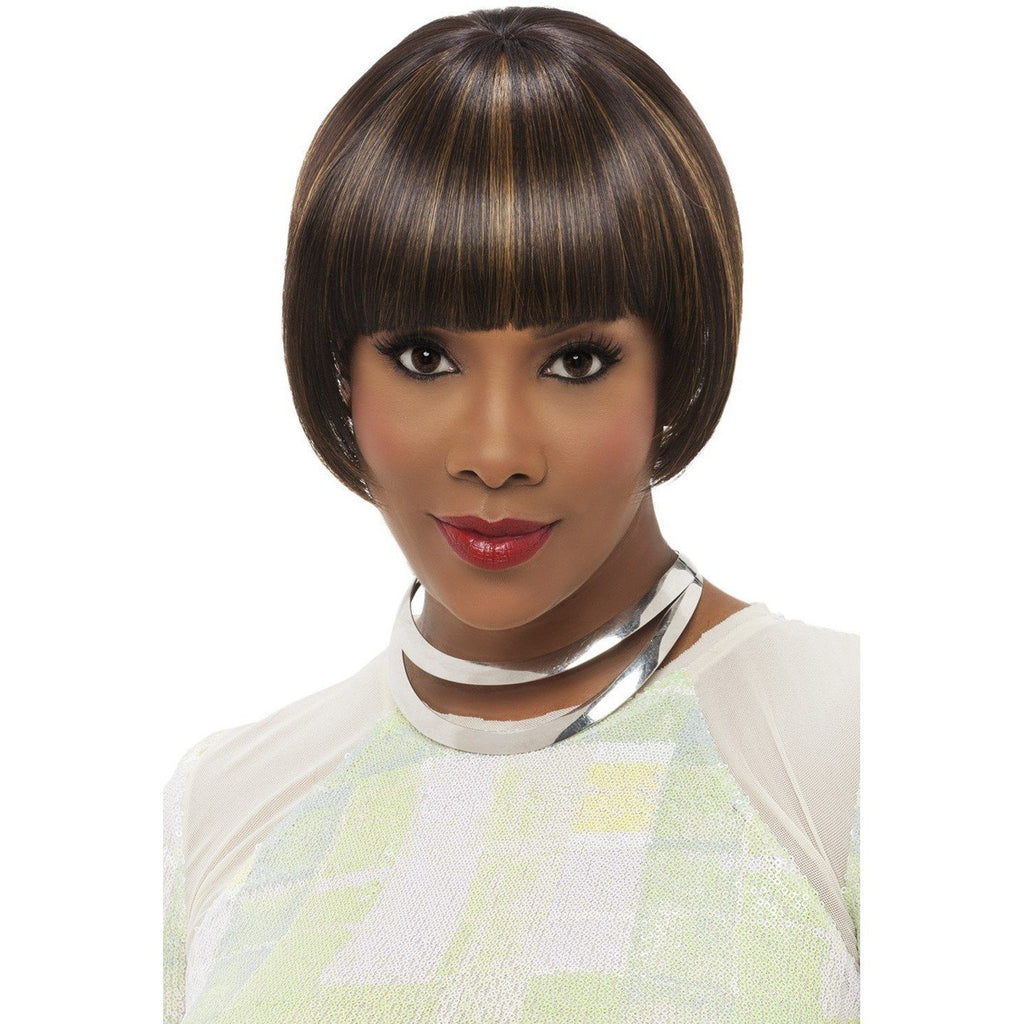 WP-LUCY-V | Heat Resistant Synthetic Wig (Weave/Traditional Cap) - African American Wigs