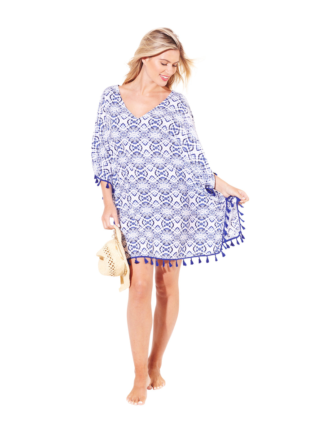 Women's Beach Kaftan - Blue