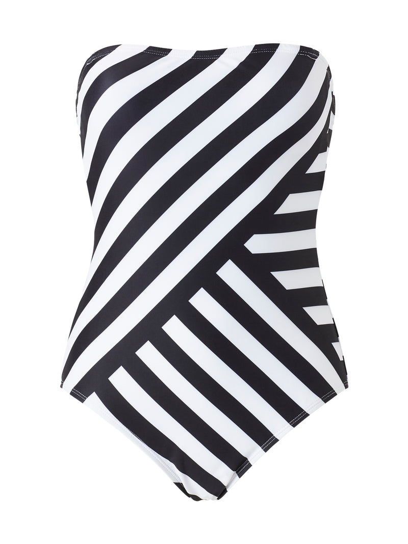Bandeau Swimsuit - Stripe