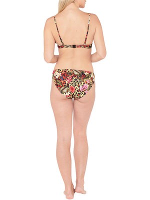 Underwired Tie Detail Bikini Top - Tropical