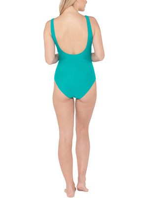 Side Gather Swimsuit - Teal