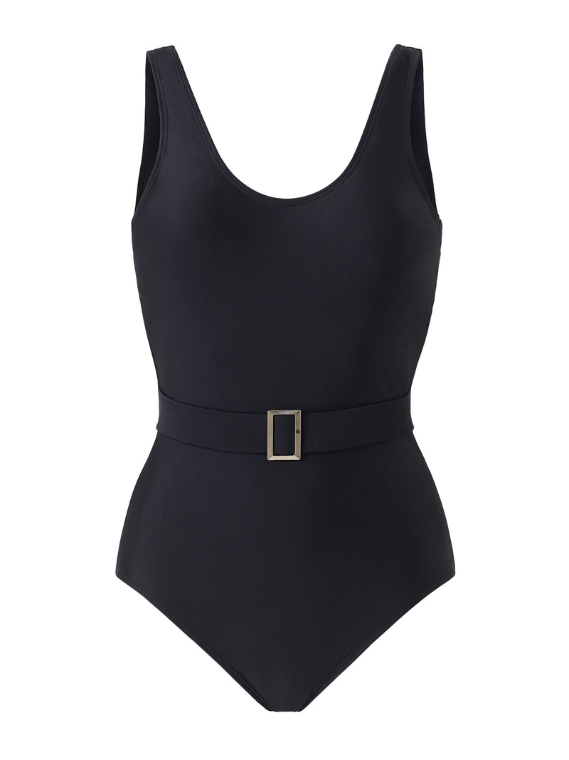 Belted Swimsuit - Black