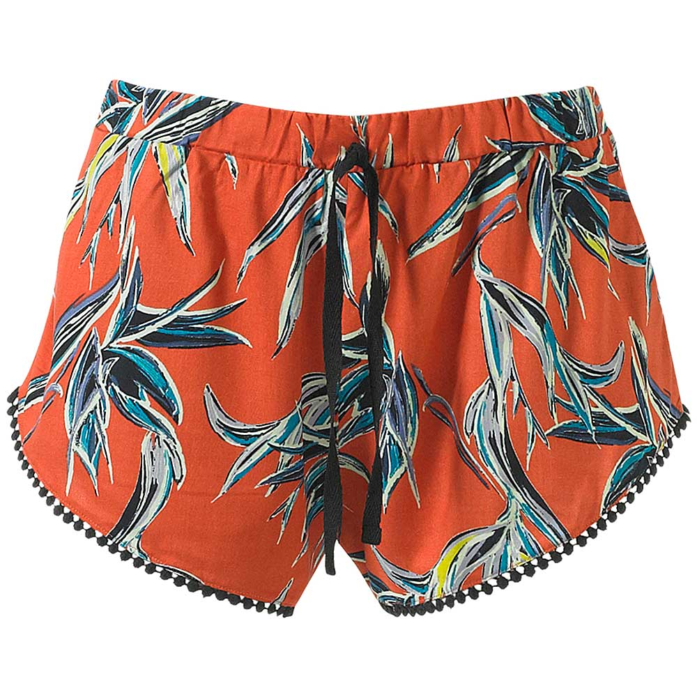 Beach Shorts / Sleep Shorts - Red Floral