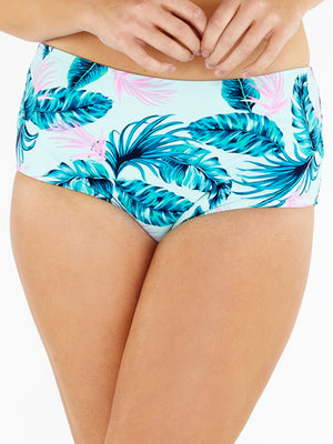 High Waist Brief - Aqua