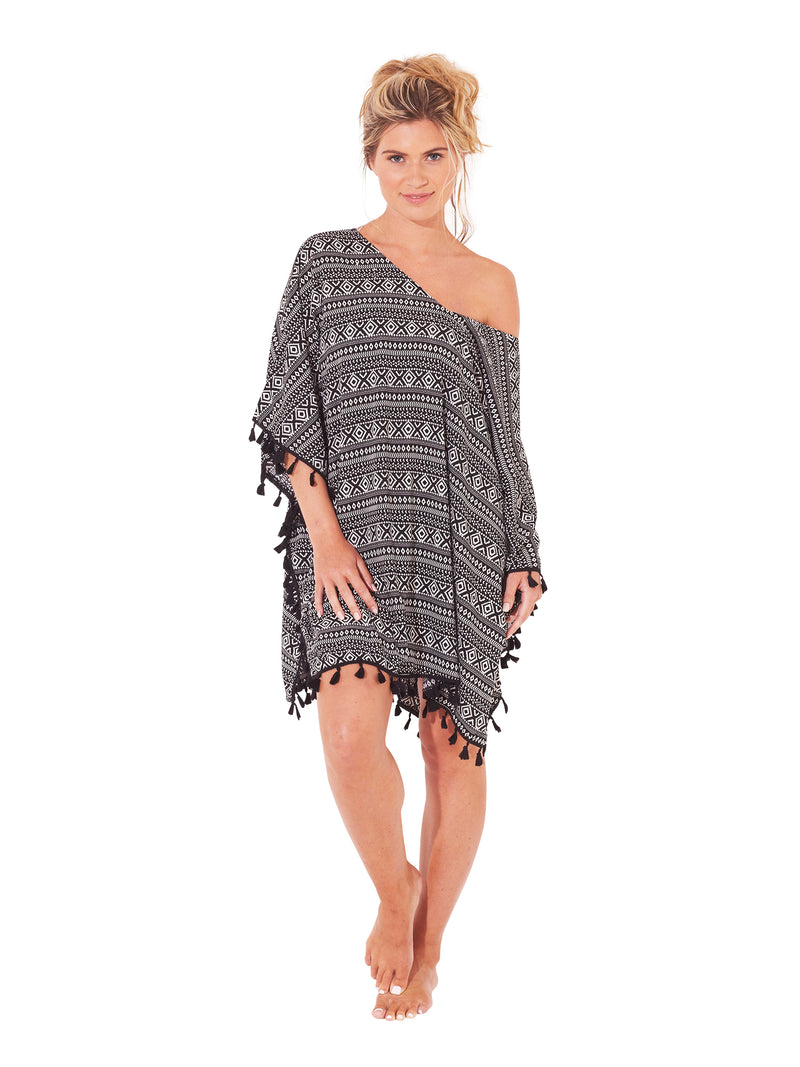Women's Beach Kaftan - Aztec