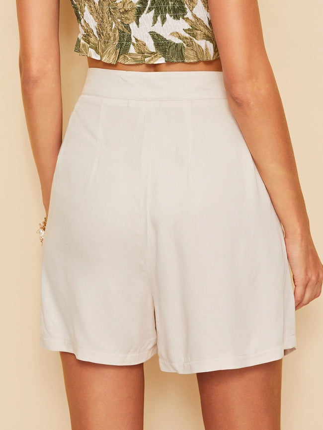 Belted Longline Shorts SHEIN