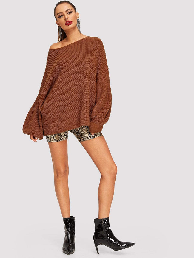 Belted Sweater SHEIN