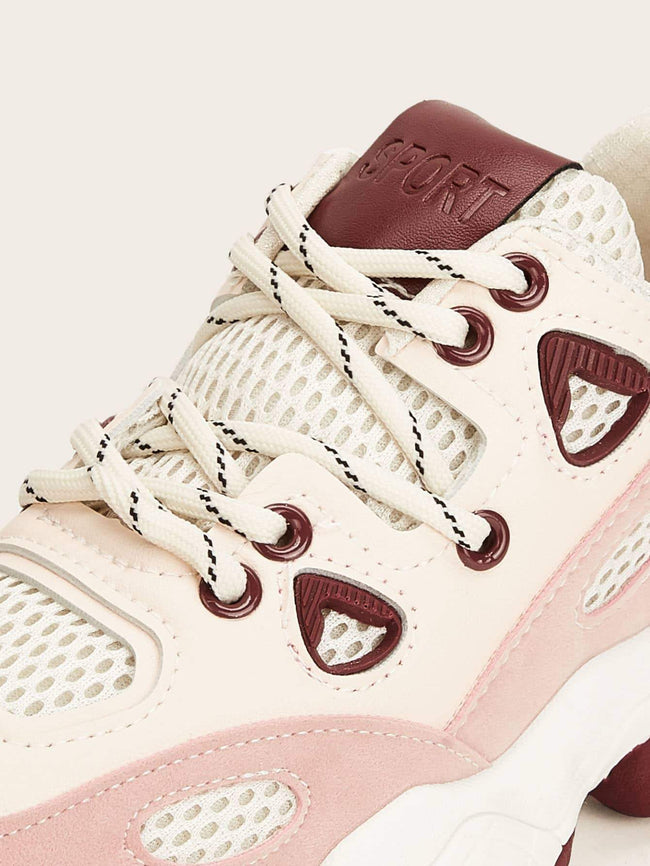 Color Block Chunky Sneakers SHEIN