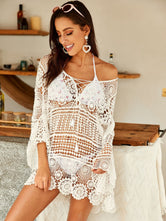 Crochet Guipure Lace Sheer Cover Up