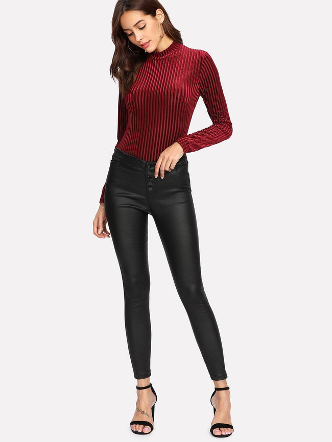 Faux Leather Pants SHEIN