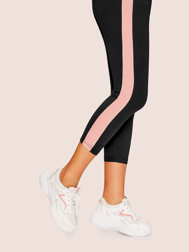 Pink Striped Chunky Sneakers SHEIN