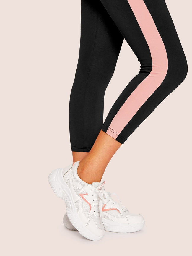 Pink Striped Chunky Sneakers SHEIN 5
