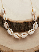 Puka Shell Charm Necklace