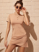 Ruched Tshirt Dress SHEIN S