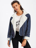 Shearling Lined Denim Jacket