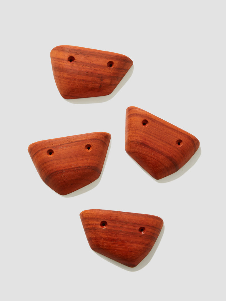Padauk Wood Crimp Holds (Set of 4)