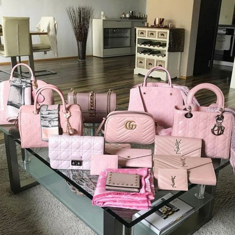 pink designer bag collection