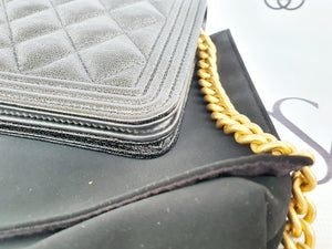 Authentic Chanel boy wallet on chain luxonline ph