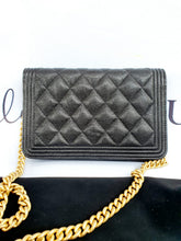 Load image into Gallery viewer, Authentic Chanel boy wallet on chain monthly payments
