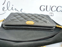 Load image into Gallery viewer, Authentic Chanel boy wallet on chain the baggery ph