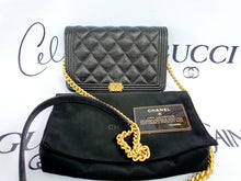Load image into Gallery viewer, Authentic Chanel boy wallet on chain pawn online