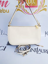 Load image into Gallery viewer, Coach 2 way sling bag mini in ivory white in champagne gold hardware