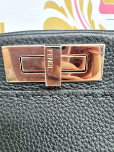 Authentic Fendi Peekaboo medium leather satchel pawn online