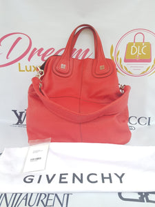 Authentic Givenchy Shopping bag Nighty in coral red