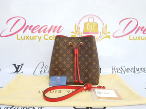 Authentic Louis Vuitton Neo neo monogram in coquelicot redIn