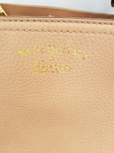 Authentic Gucci bamboo shopper tote nude pink